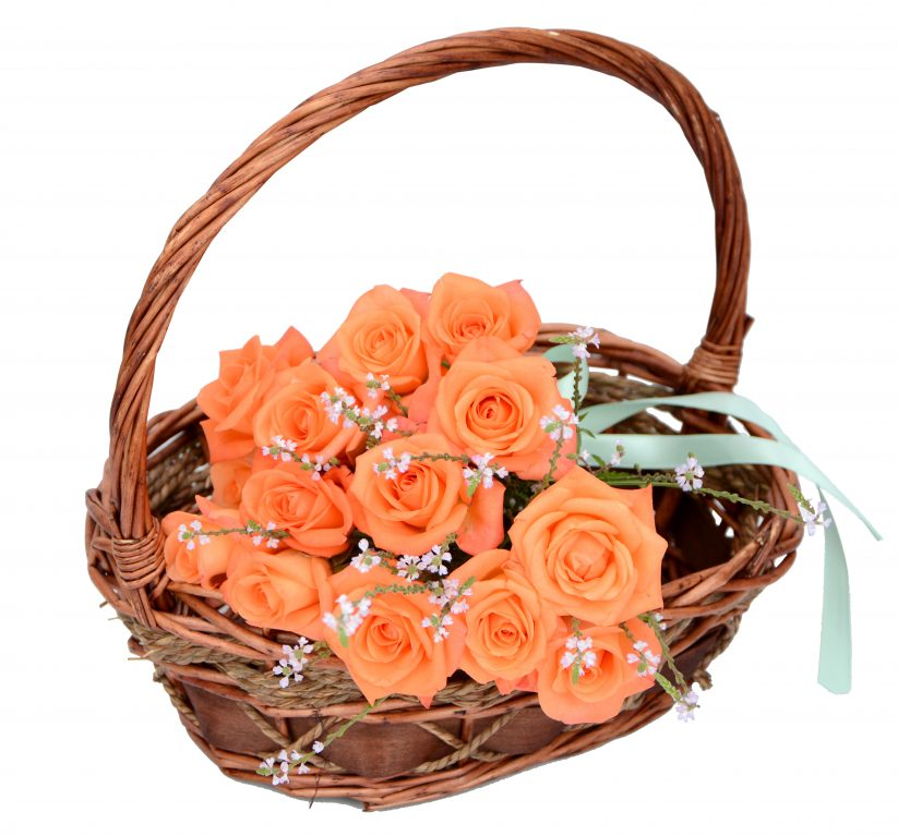 Булчински букет - оранжеви рози