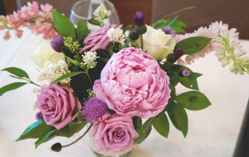 Сватбена украса с божури