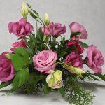 малък аранжимент в розово